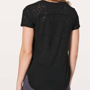 lululemon black burnout style t shirt size 6
